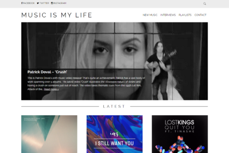 "MUSIC IS MY LIFE music blog features ""CRUSH""..."